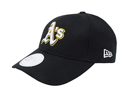 Pinch Hitter Adjustable Cap - New Era MLB Oakland Athletics Black Pinch Hitter with White Logo Adjustable Hat