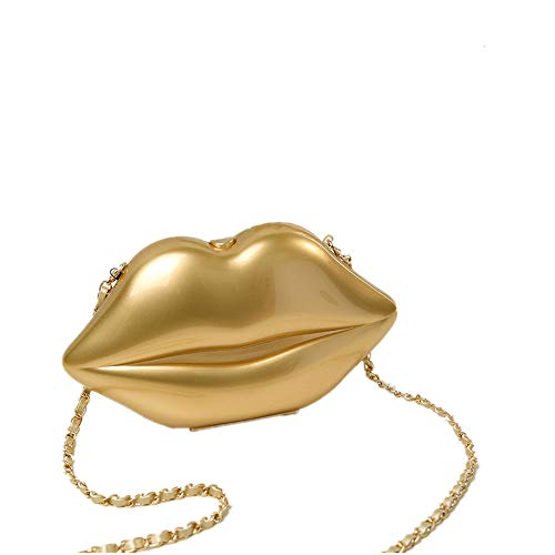 bandoulière en Bag Lady Forme Black à lèvre Main soirée Multi pour Mariage de Sac Messenger Sac bandoulière de Couleur de Color Gold discothèques xvvtFw40q