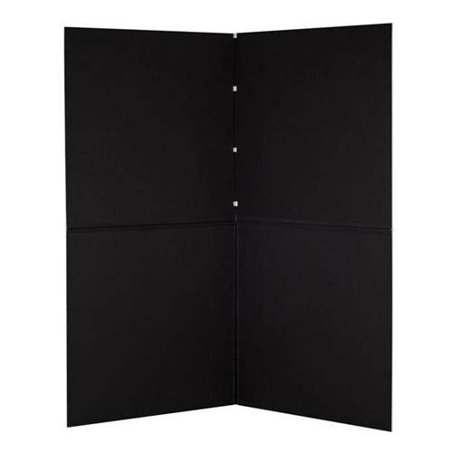 V-FLAT WORLD Foldable V-Flat Bounce Board, Black/White - with Flashpoint 10' C Stand on Turtle Base Kit, 40'' Grip Arm & Two 3'' GOBO Heads, Microfiber Cloth by V-FLAT WORLD (Image #4)
