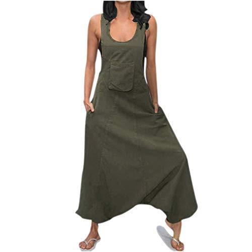 NEARTIMEWomen Rompers, Summer Women's U-Neck Sleeveless Pants Casual Cotton and Linen Suspender Jumpsuits