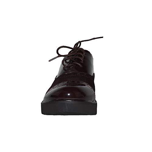 Vatineris Ville Lacets De Chaussures Marron Femme À Pour 4Rq47r
