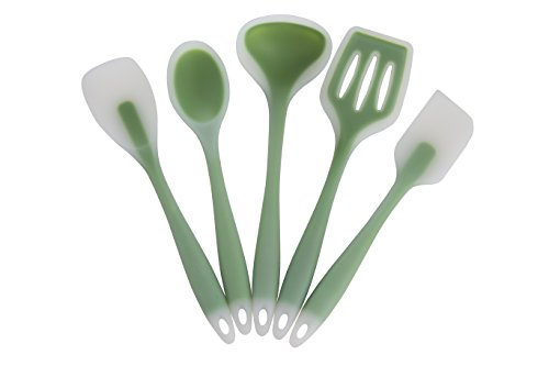 Silicone Kitchen Utensils - 5 Piece Set - Premium Food Grade Cooking Tools - Nonstick and Heat Resistant - Kitchen Winners