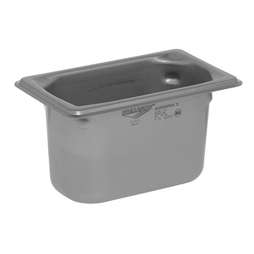 VOLLRATH Super Pan 3 Steam Table Pan Ninth-Size, 4