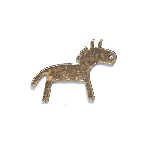 Shipwreck Beads Zinc Alloy Primitive Horse Charm, 19 by 28mm, Antique Brass, 60-Pack from Shipwreck Beads