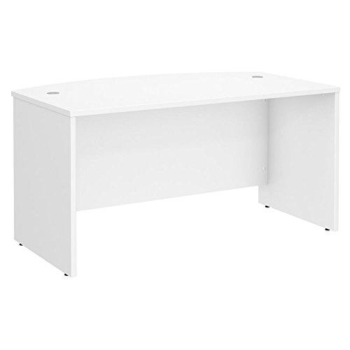 Bush Business Furniture Studio C 60W x 36D Bow Front Desk in White -