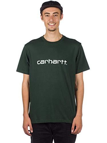 Carhartt Sans loden Vert white T 90 s Homme S Pull Manche Script 885 shirt rqfx4rnwAW