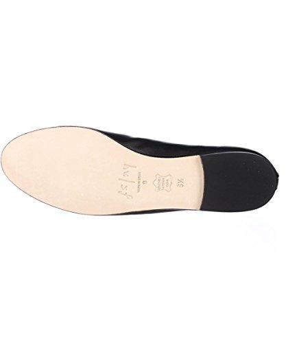 French Flats Womens Black Jigsaw Almond Toe Sole Ballet qOSnqxBrRw