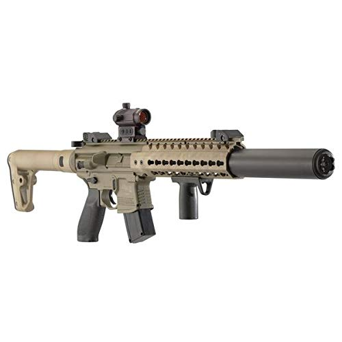 SIG SAUER MCX AIR, .177 CAL, 88GR CO2, 30 RD, FDE, SIG20R RED DOT (CO2 Not Included)