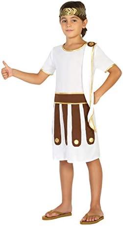 Atosa-20674 Disfraz Romano, Color Blanco, 7 a 9 años (20674 ...