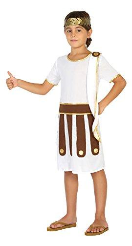 Atosa-20674 Disfraz Romano Color Blanco 7 a 9 años (20674