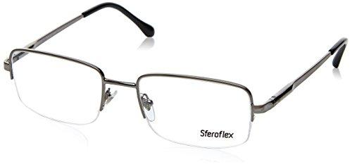 Sferoflex SF2270 Eyeglass Frames 268-54 - Gunmetal SF2270-268-54