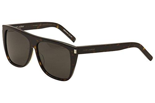 Saint Laurent 004 Havana Smoke SL1 Wayfarer Sunglasses Lens Category - Saint Laurent Sl1 Sunglasses