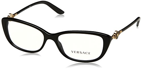 Versace Women's VE3206 Eyeglasses Black 52mm by Versace