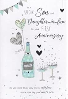 Son Daughter In Law 1st Wedding Anniversary Card On Your Paper