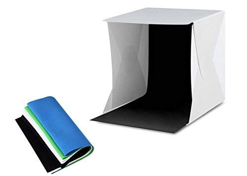 Amzdeal Light Box Photo Studio (12in-4 Color Backdrops)