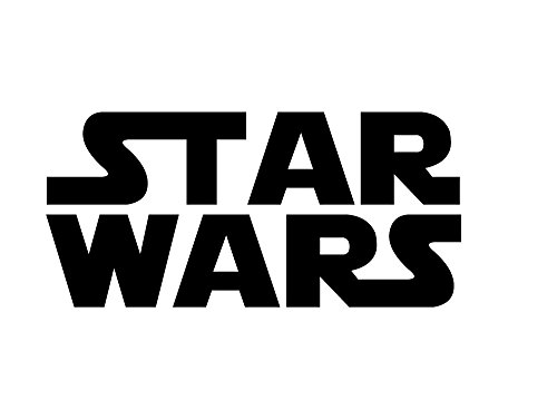 6135b Star Wars Movie Logo black vinyl decal for bumpers, windows, laptops or any smooth surface (Knights Of The Old Republic Windows 7)