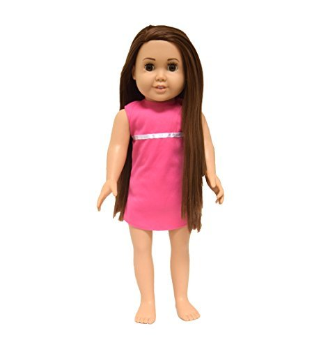 The Springfield Collection by Fibre-Craft Pre-Stuffed Doll, 18-Inch, Emma/Brunette Hair/Brown Eyes
