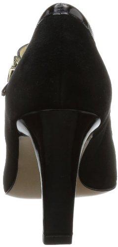 Peter Kaiser TEPSI - Zapatos de tacón de cuero mujer negro - Schwarz (schwarz Suede/Crakle/gold Schmuck)