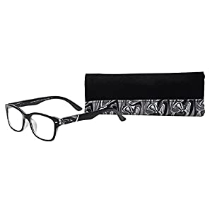 SAV Eyewear (Select-A-Vision) Victoria Klein Fashion Round Reading Glasses 9078 Black, 2.75