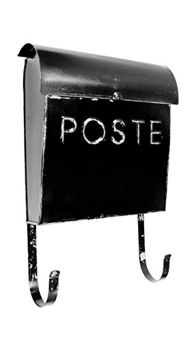 NACH French Euro Rustic Mailbox, Black