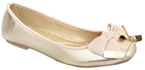 Schuhe golden Bow Damen Pea Laruise Cxqata