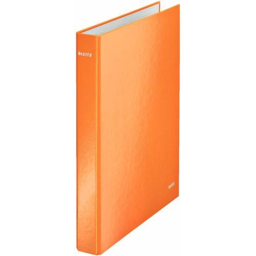 Leitz 2 Ring Binder, Holds up to 230 Maxi Sheets, Wow Range, 25 mm Spine, 42410044 - A4, Orange Metallic ()