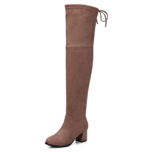 US M 1TO9 Womens Nubuck Solid Boots Gray Urethane Boots MNS03437-9.5 B