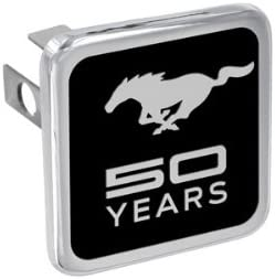 Ford Mustang 50th Anniversary Chrome Trailer Hitch Cover Plug 1.25 inch post