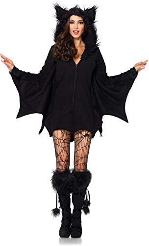 Forum Novelties Women's Hoodie Bat Costume, Black, Standard