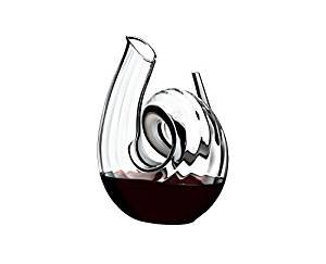 Riedel Decanters Crystal 1.5 Quart Fatto A Mano Curly Decanter