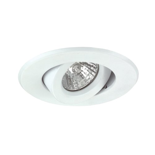 NICOR Lighting 4-Inch Gimbal Ring Trim for 4-Inch Housings, White (14558WH) ()