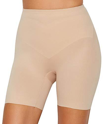 TC Fine Intimates Adjust Perfect Firm Control Shaping Shorts, L, Nude (Mesh Boyshort Fine)