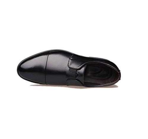 Tonda Oxford Scarpe Punta Scarpe A Scarpe Testa Chic Morbido Casual Lazy Fondo Traspirante Rete Uomo Black Scarpe qwOwTXP8