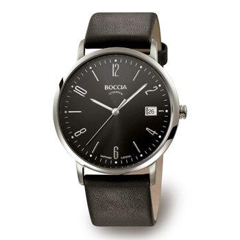 Boccia Men's Quartz Watch 3557-02 with Leather Strap