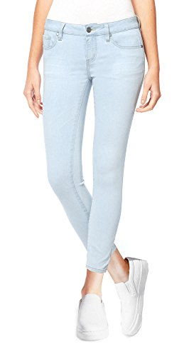 - Buffalo David Bitton Women's Mid-Rise Super Soft Capri Jeans (8/29, Light Blue Denim)