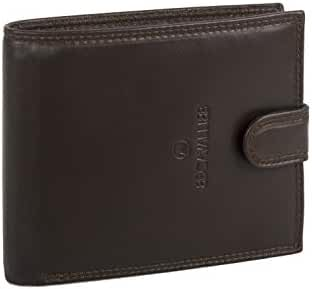 Wallet man B.CAVALLI moro in leather with coin purse opening button A5726