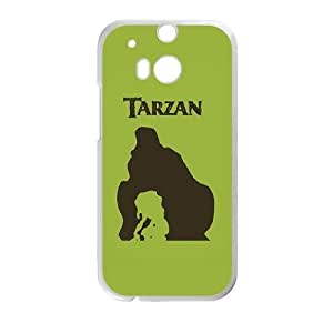 Printed Cover Protector HTC One M8 Cell Phone Case Gxzij Tarzan Unique Design Cases