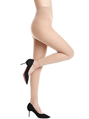 Beluring Womens 120D Opaque Solid Color Footless Pantyhose Tights (Tights Footless Denier)