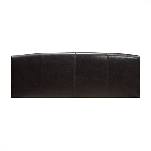 - Modus Furniture Ledge Upholstered Arch Headboard, Chocolate, Full
