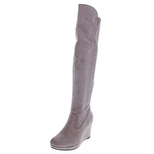 Chinese Laundry Womens Lavish/Lovey Suede Closed Toe Knee High, Mink, Size 6.0