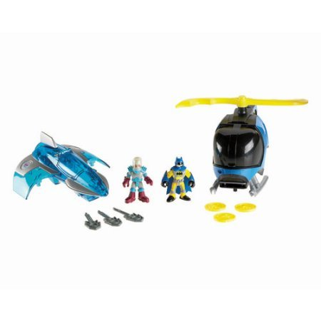 Fisher-Price Imaginext Batcopter and Mr. Freeze's Jet Play Set