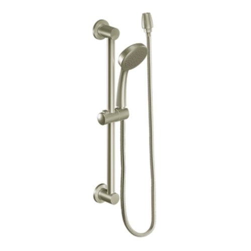 Moen 3868EPBN Showering Accessories-Basic Eco-Performance Handheld Showerhead with 69 Inch Hose Featuring 24-Inch Slide Bar, Brushed Nickel