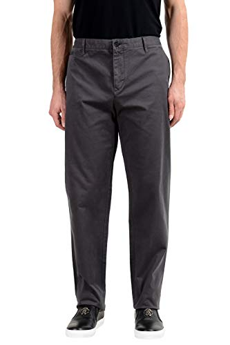 BURBERRY Brit Men's Gray Stretch Casual Pants US 42 IT ()