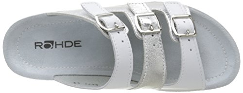 Rohde 1422 - Zuecos Mujer Blanco - Blanc (01 Polaire)