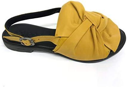 BUENO Art. 20WQ2005 Sandalo in Pelle con Nodo (Giallo, Numeric_39)  5ciL21
