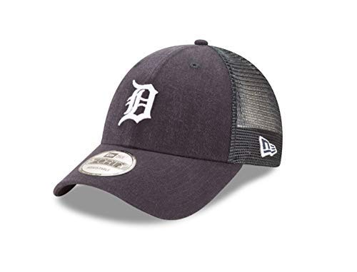 (New Era 9Forty Detroit Tigers Hat Trucker Adjustable Mesh Navy Blue Cap)