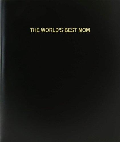 BookFactory The World's Best Mom Log Book / Journal / Logbook - 120 Page, 8.5''x11'', Black Hardbound (XLog-120-7CS-A-L-Black(The World's Best Mom Log Book)) by BookFactory