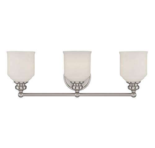 Savoy House 8-6836-3-SN Melrose 3-Light Vanity Bar in Satin ()