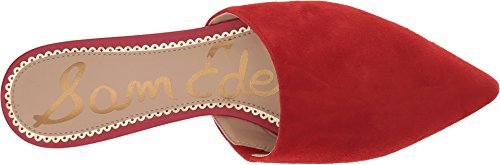 Candy Leather Mule Suede Red Edelman Sam Kid Women's Rumi xqwOIzH