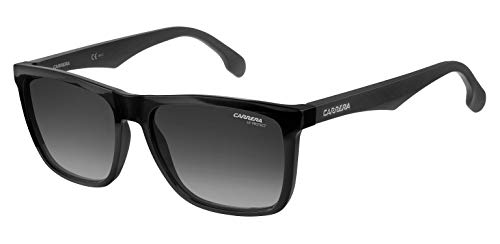 Carrera Men's Ca5041s Rectangular Sunglasses, BLACK/DARK GRAY GRADIENT, 56 mm from Carrera